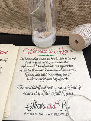 Wedding Thank You Notes - Message in a bottle
