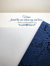 Laser-cut Pocket Fold Wedding Invitation