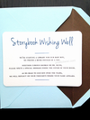 Storybook wishing well card - baby shower book card