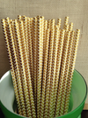 Gold Foil Chevron Straws - Gold Straws