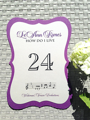 Die-cut Wedding Table Numbers
