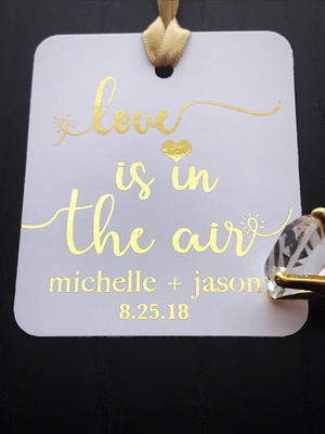Love is in the air - Wedding Hanging Gift Tags