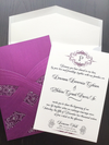 Wedding Invitation Suite - Laser-cut Invite - Wedding Pocket Invitation - Modern Invite