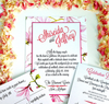 floral wedding invitation or reception invitation