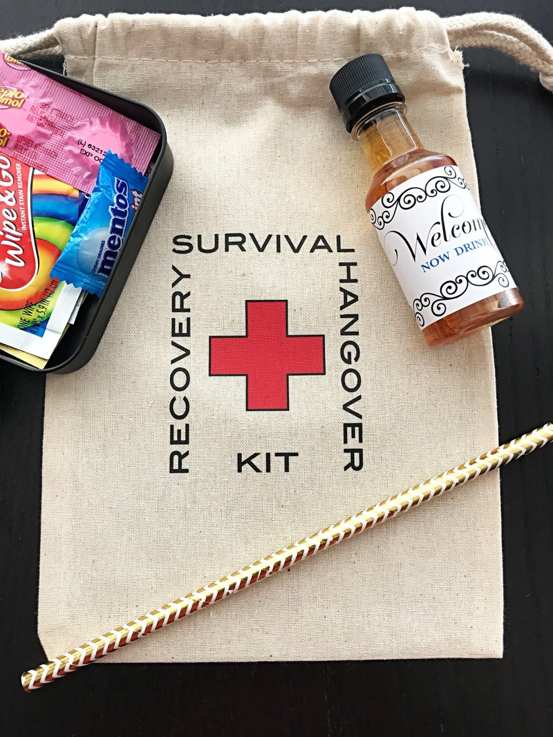 Recovery kits hangover bag