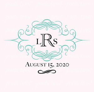 Tiffany Blue Wedding Monogram