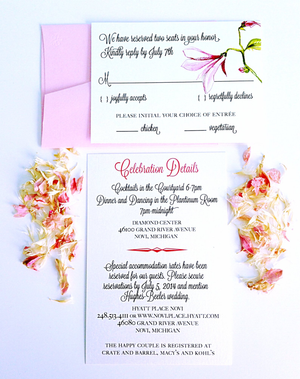 blush wedding color palette