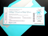Airline Ticket Wedding Invite - Palm Tree Invite -Destination Wedding