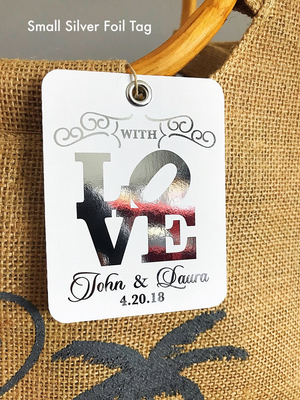 Foil Favor Wedding Tags
