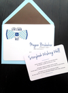 Bow tie baby shower invite - It's a boy shower