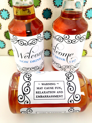 Personalized gifts- Mini Liquor Bottles - Hangover Kit