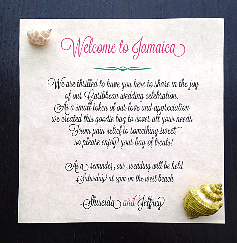 Welcome Wedding Notes