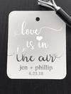 Love is in the air wedding favor tags