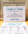 Destination Wedding Itinerary - Wedding Timeline - Weekend Agenda