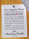 Wedding Tags-Thank You Tags-Guest Bag Tags