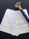 Favor tags for weddings or welcome bags
