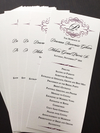 monogram wedding programs