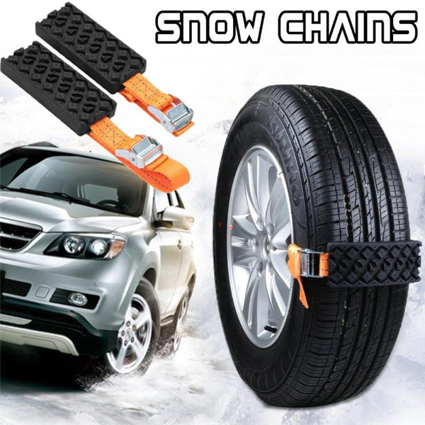 Car Snow Chains Anti-Skid Antiskid Chain Universal Rubber Nylon Snow Mud Chain Car Tire Emergency Anti Skid Sponges DropShipping
