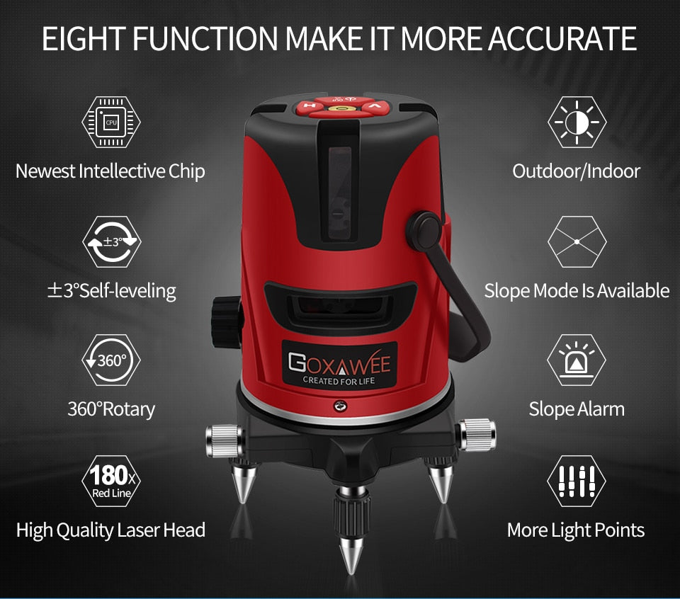 Level Measure Instruments Laser 360 Degree Cross Line Rotary Construction Tool