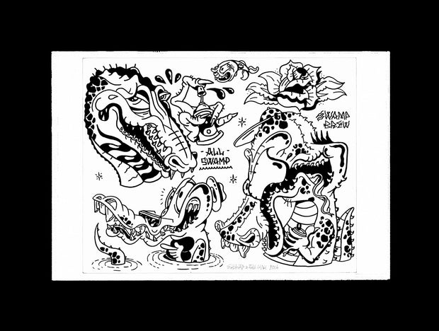 Gator_Swamp_Sheryo_Yok_001 Ink Drawing