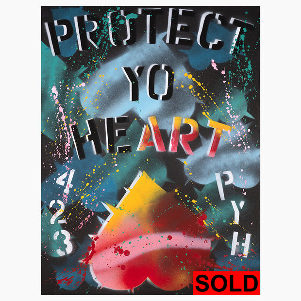 PROTECT YO HEART #3 by Uncutt Art - Mixed Media on Canvas