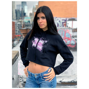 WHY WAIT? LOVE NOW by artist Urban Russian Doll - Crop Hoodie