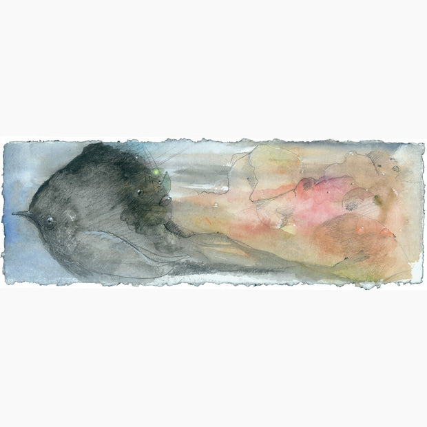 A Birds Dream Original Watercolor by Cern