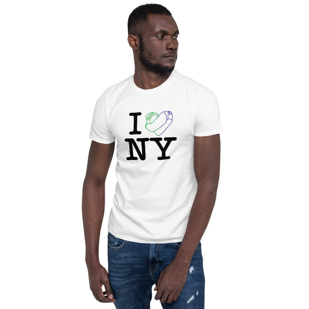 BELLAPHAME - I LOVE NYC -Short-Sleeve Unisex T-Shirt (WHT)
