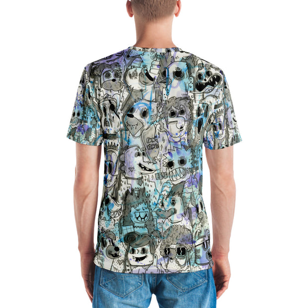 'Epic Blue Times' by artist Ramiro Davaro-Comas Men's T-shirt