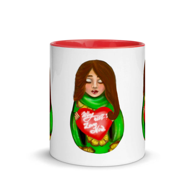 URD by artist Urban Russian Doll - Limited Edition - Mug with Color Inside