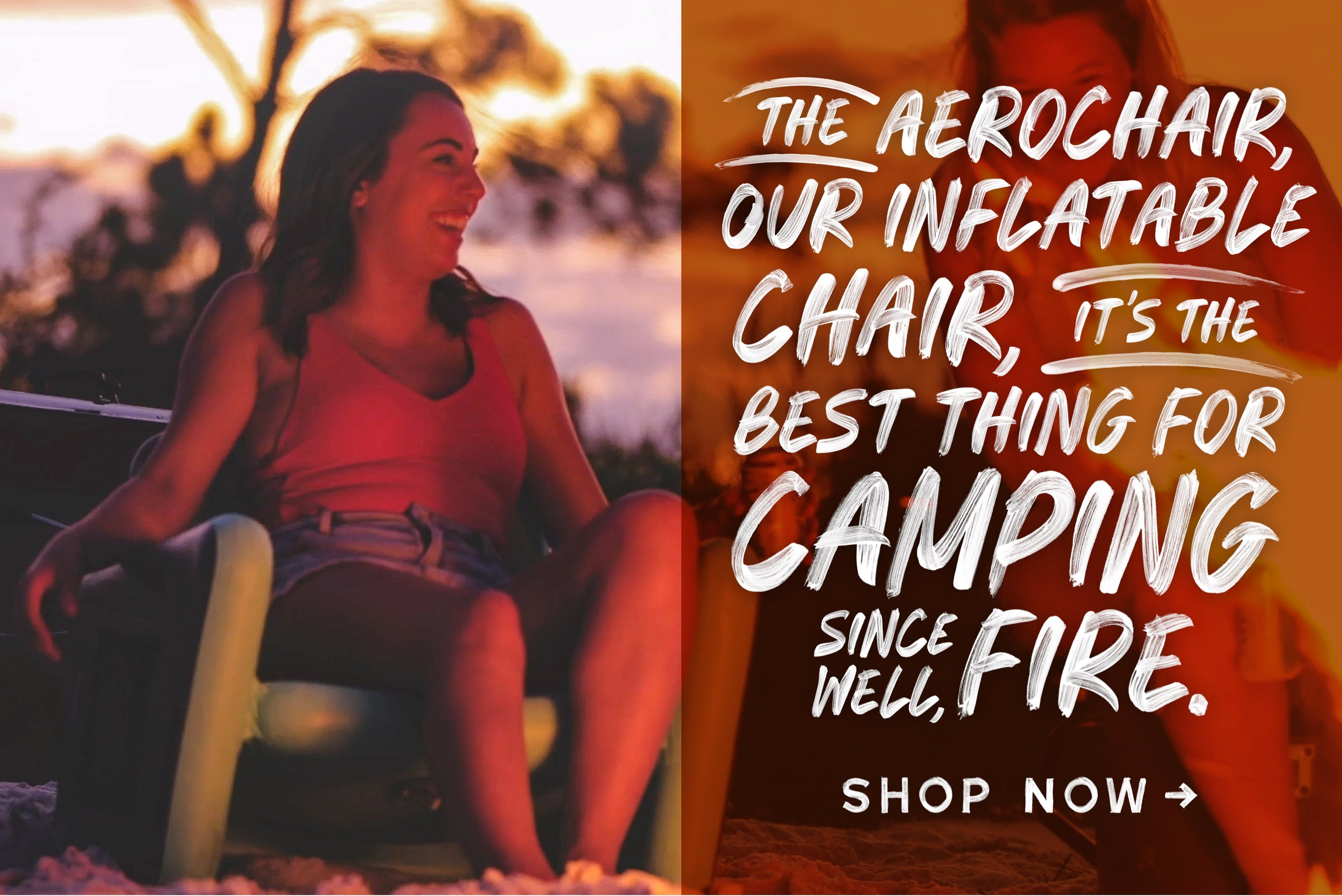 BOTE SUP Camping, highly portable and durable inflatable chair, the AeroChair