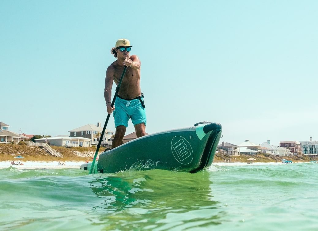 The LONO's removable top will help you go from inflatable kayak to inflatable paddle board or SUP in minutes