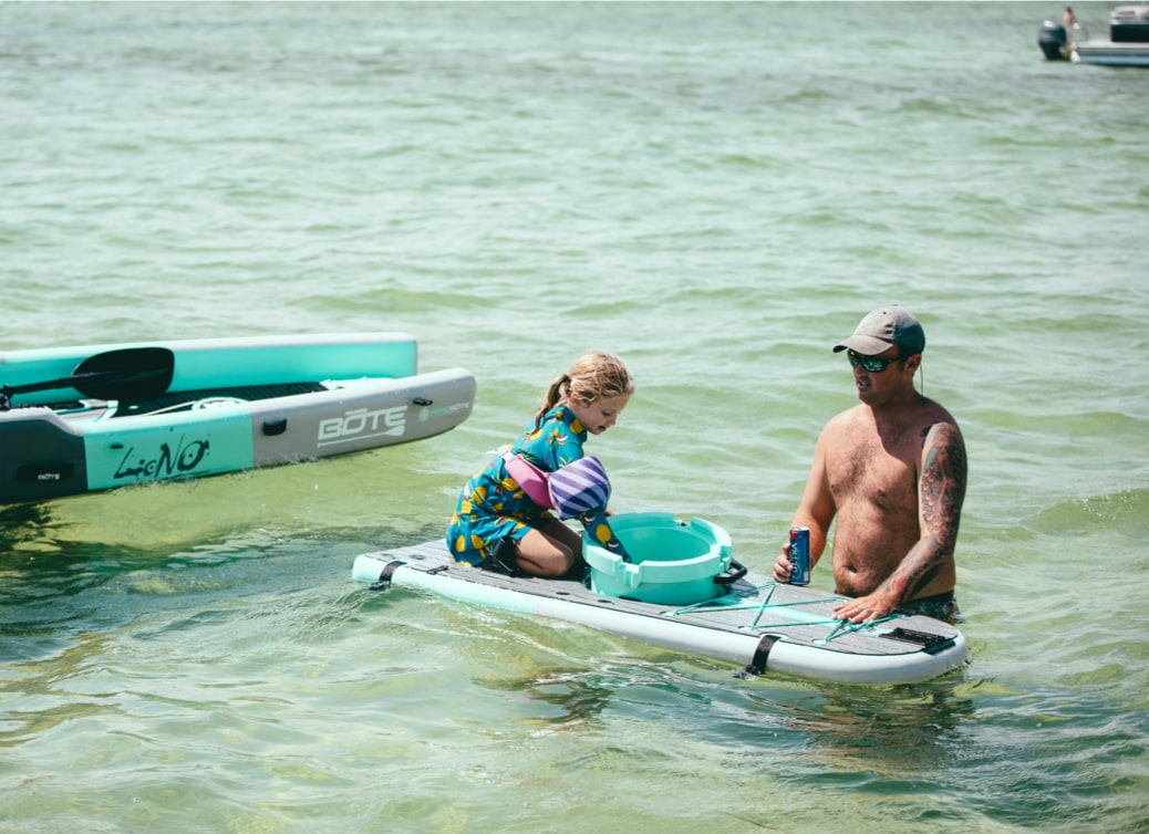 Use the LONO's removable convertible top chamber separately to float your KULA cooler, let your kids have somewhere to sit, or simply use it as a spot to rest your drink while you're relaxing in the water.