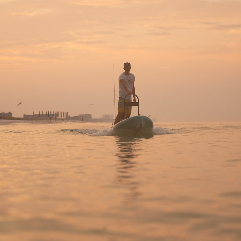 The Rover is a paddle board/micro skiff hybrid like no other