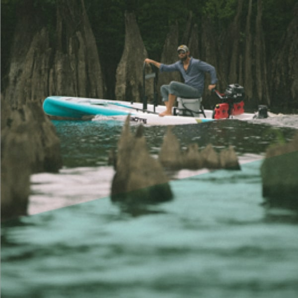 Able to go places you can't with just a paddle board or a traditional skiff