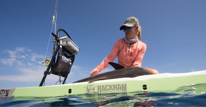 BOTE Tackle Rac on a Rackham Paddle Board