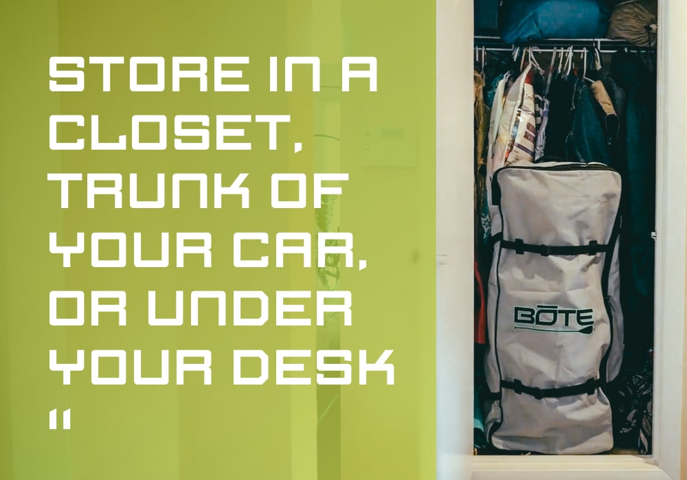 Aero can fit just about anywhere, Store in a closet, trunk of your car, or under a desk.