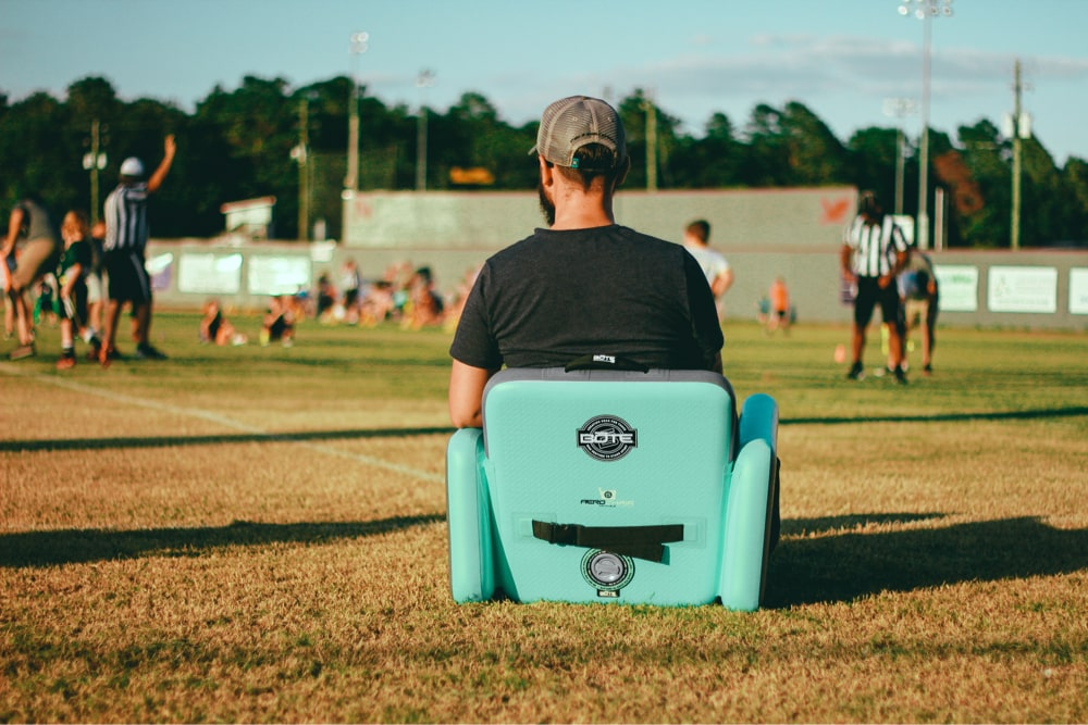 The Aero Chair is a great companion off the water too. Perfect for sporting events and kids games.