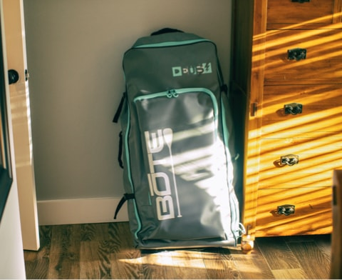 BOTE DEUS Aero inflatable kayak bag can virtually fit in every space.