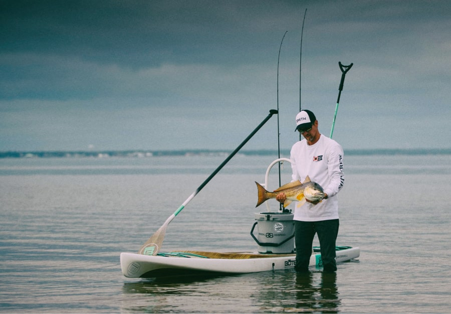 Catch and Eat with paddle board fishing