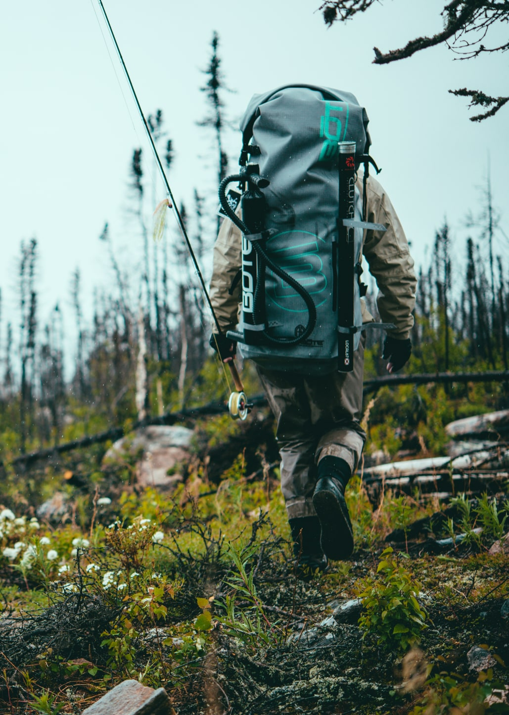 Using Aero Bags to Hike to Your Favorite Fishing Hole