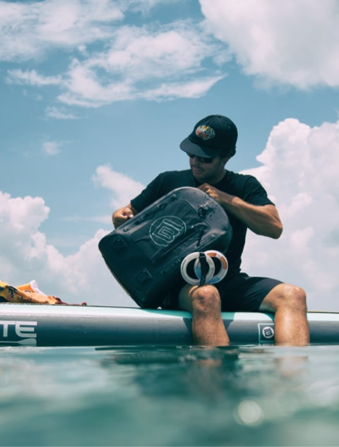 BOTE's Highwater Backpack will keep all your gear high and dry.