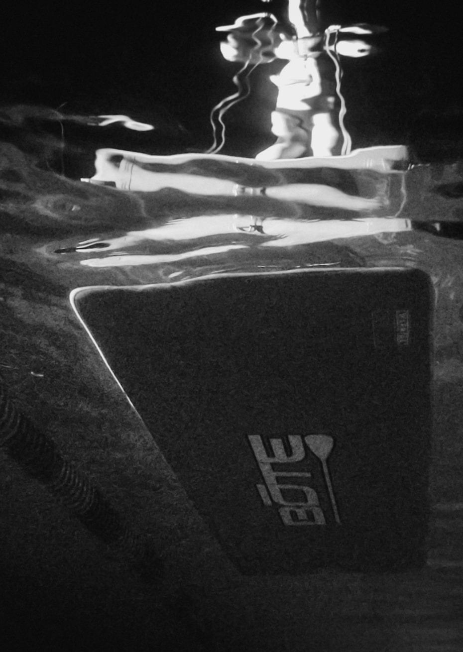 Underwater shot of BOTe inflatable Dock FX