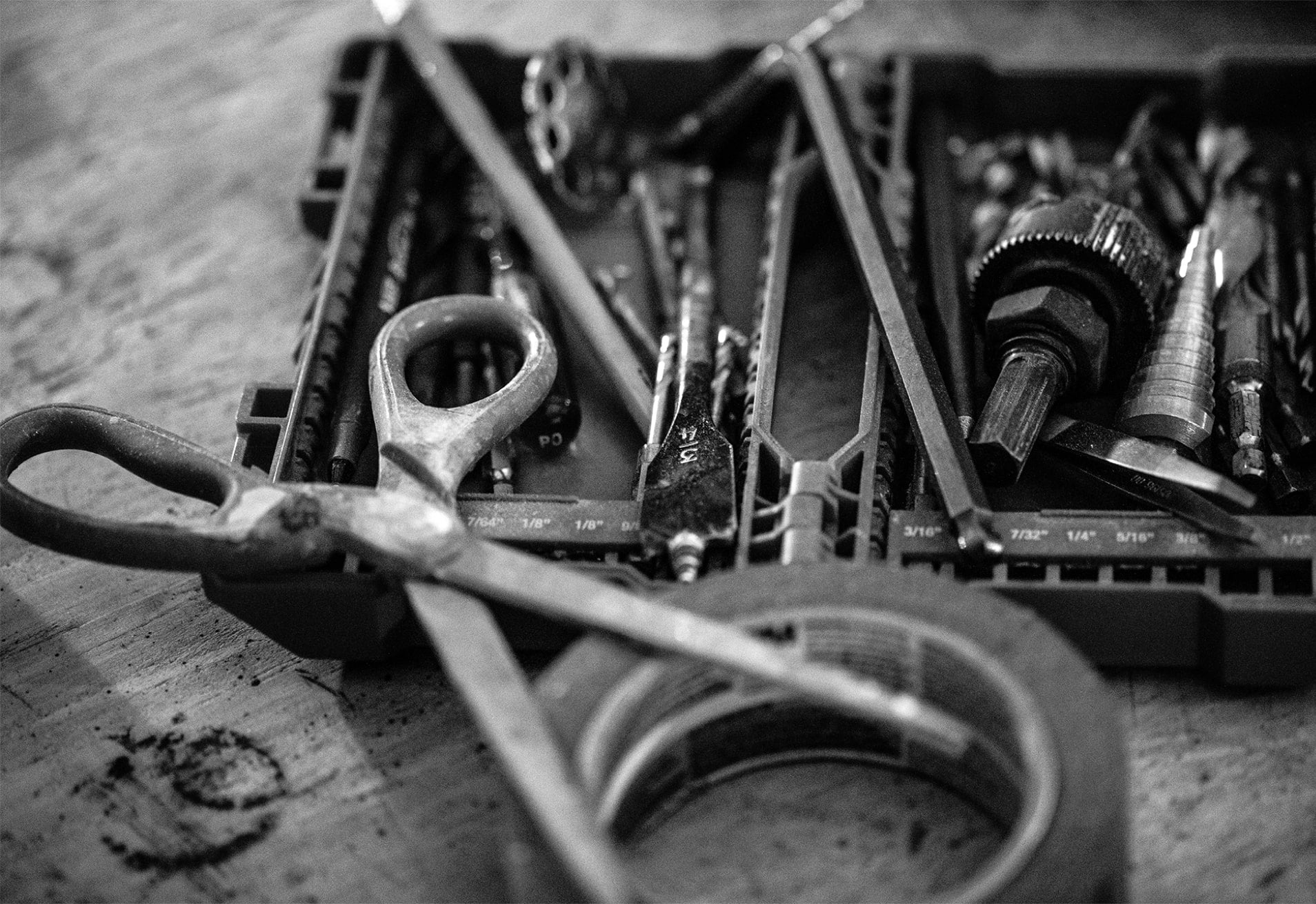 black and white tools