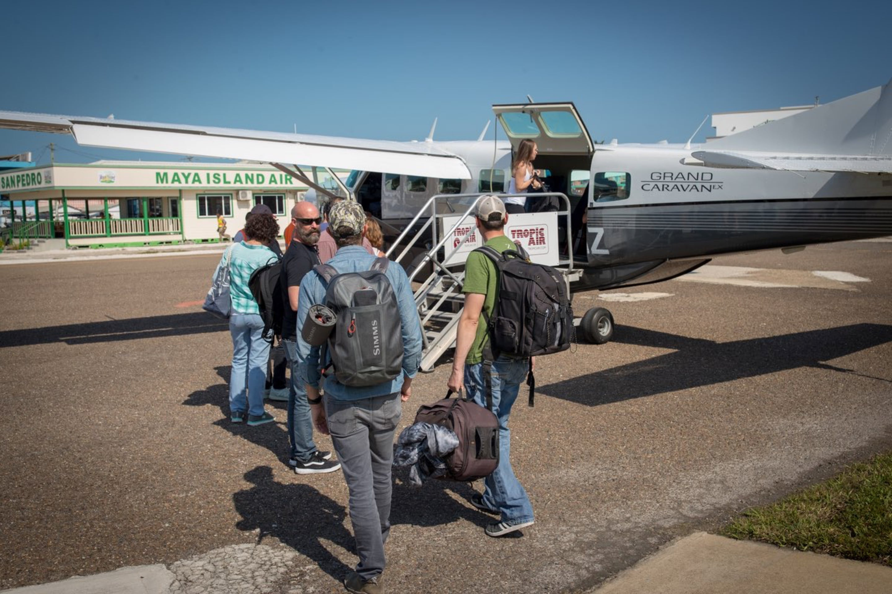 BOTE crew loading up on the plane