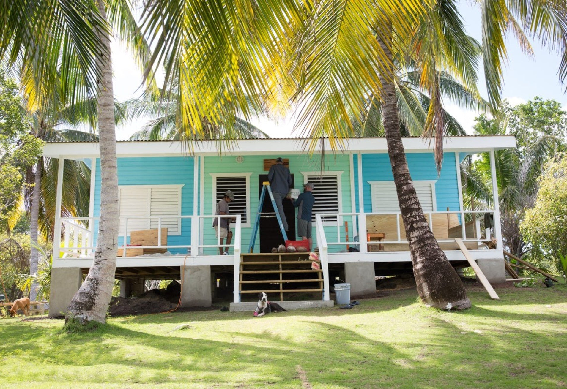 Putting the final touches on the BOTE House Belize