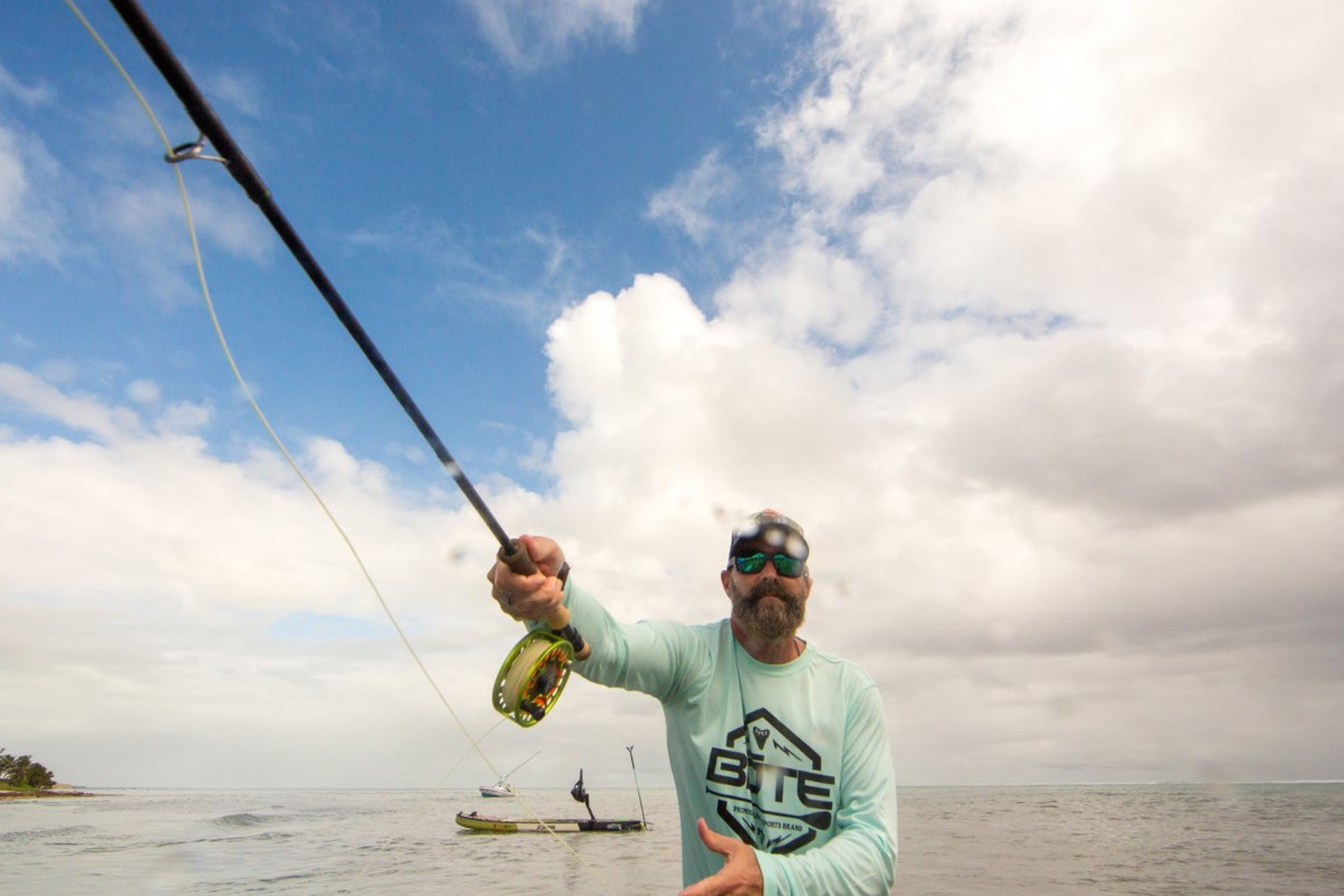 BOTE Creative Director Rob McAbee casting a line