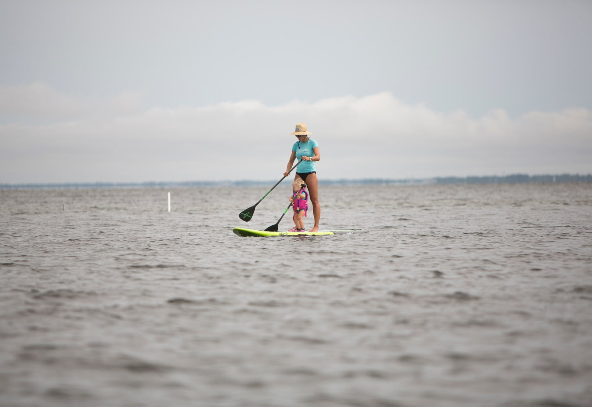 Mother and Daughter on BOTE Paddle Board