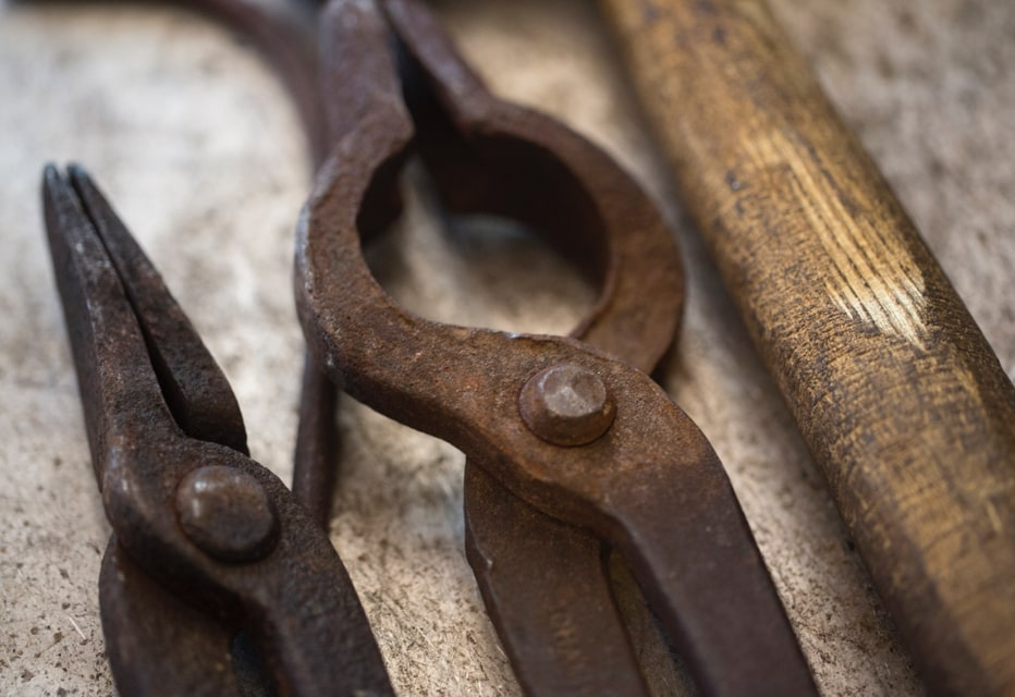 Rusted old tools