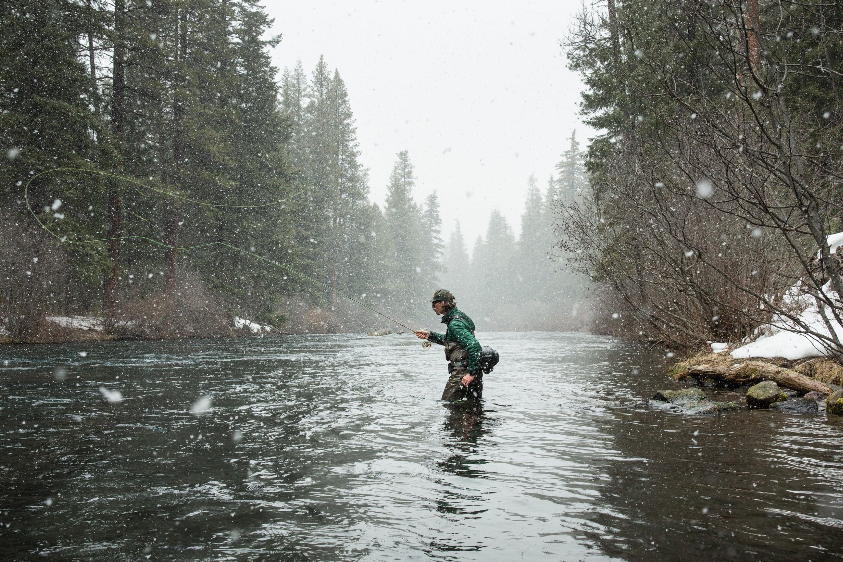 Wading rivers to fly fish